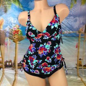 ! Tropical Escape floral one piece swim suit